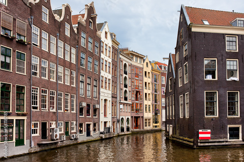 Amsterdam Canal Houses Wallpaper Mural
