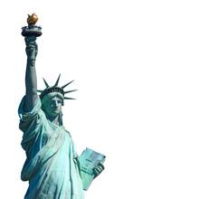 Freiheitsstatue (freigestellt Vor Weiß)