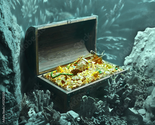 Fotomural sunken treasure
