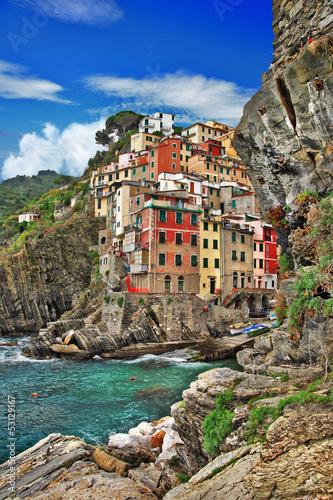 Fototapety, obrazy: pictorial Ligurian coast of Italy - Riomagiore
