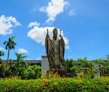 John Paul II Pope Statue At Thailand