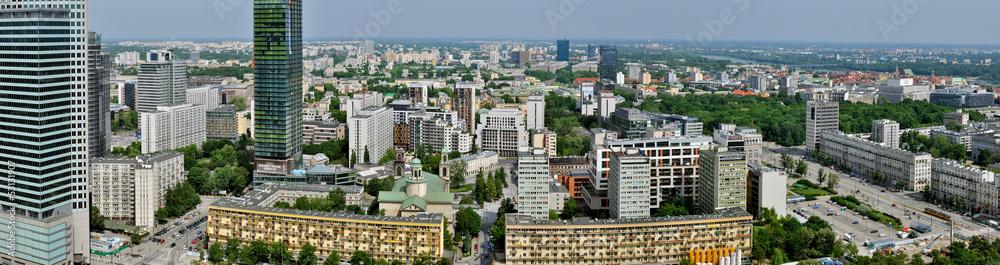 Fototapety, obrazy: Warszawa - Stitched Panorama