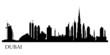 Dubai city silhouette