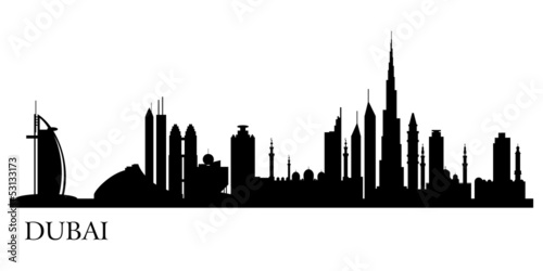 Foto  Dubai city silhouette