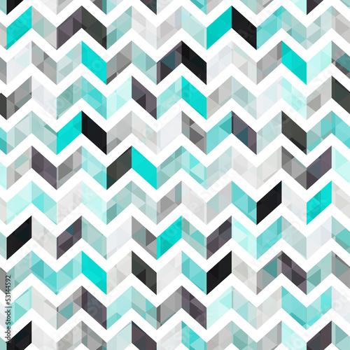 Deurstickers ZigZag turquoise shiny vector background