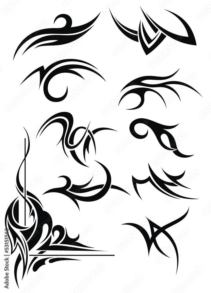 Fototapeta tribal element design