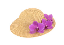 Pink Orchid Hat
