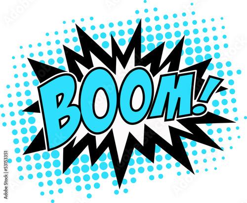 Fotografie, Obraz  BOOM! Comic Sprechblase Explosion