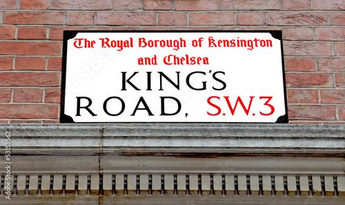 Kings Road, Famous London Street Wallpaper Mural