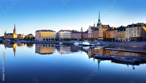 Old Town of Stockholm Canvas Print