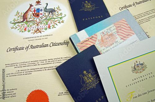 Valokuva  australian citizenship documents