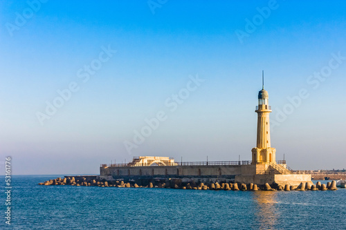 Poster de jardin Phare A view of the lighthouse at Alexandria, Egypt
