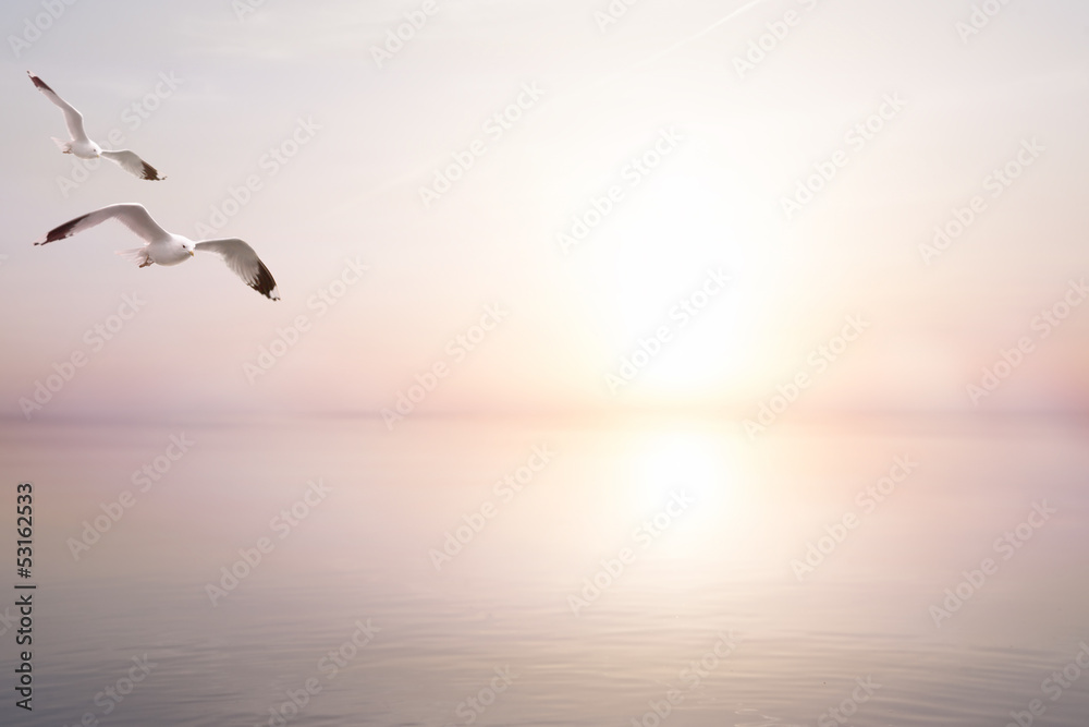 Fototapety, obrazy: art abstract beautiful light sea summer background