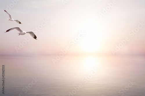 art abstract beautiful light sea summer background Canvas