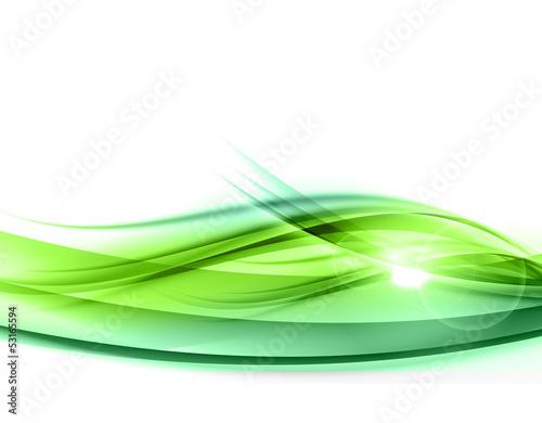 Staande foto Fractal waves green abstract
