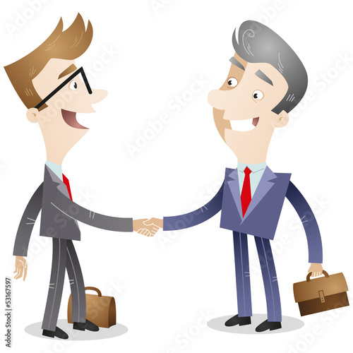 Business people, deal, handshake, business relations