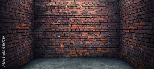 Foto op Aluminium Wand Old brick room