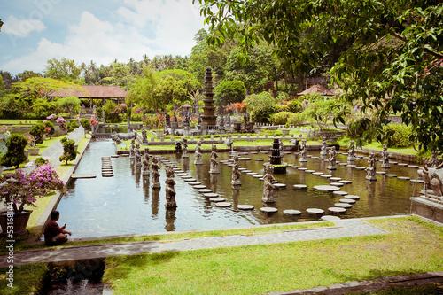 In de dag China Tirtagangga water palace on Bali island, Indonesia