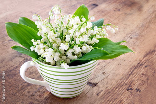 Wall Murals Lily of the valley Bouquet of lily of the valley