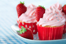 Cupcakes With Strawberries And...
