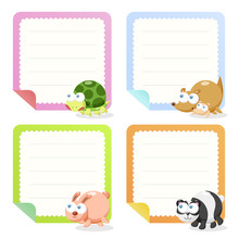 Cute Animal Note Papers Collec...