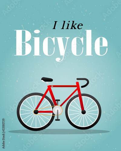 Fototapety, obrazy: Bicycle Retro Illustration