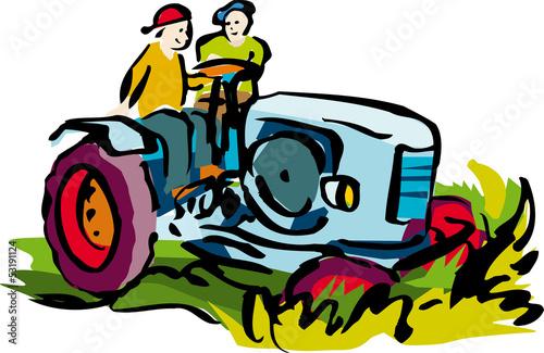 Foto op Canvas Cars Traktor