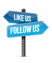 Like Us And Follow Us Street S...