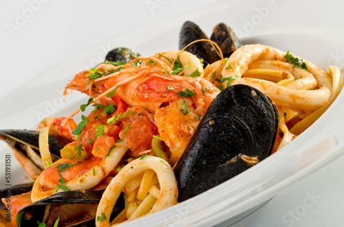 Wall Murals Seafoods Linguine seafood