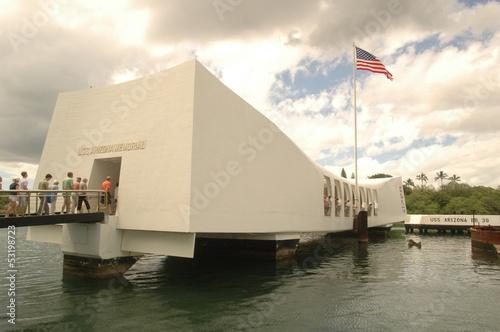 U.S.S. Arizona Memorial in Pearl Harbor. Wallpaper Mural