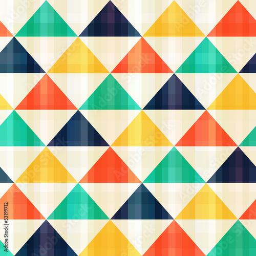 Deurstickers ZigZag seamless triangle pattern