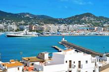 Port Of Ibiza Town, In Ibiza, Balearic Islands, Spain