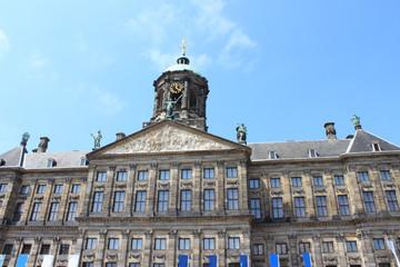 Fototapeta na wymiar Königlicher Palast am Dam Square Amsterdam (The Royal Palace)