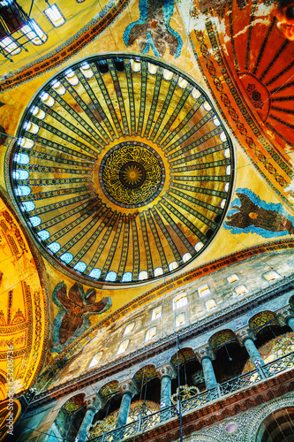 Interior of Hagia Sophia in Istanbul, Turkey Poster