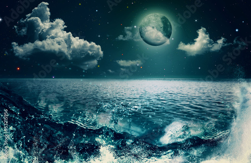 Fototapeta Beauty Ocean, abstract natural backgrounds for your design obraz