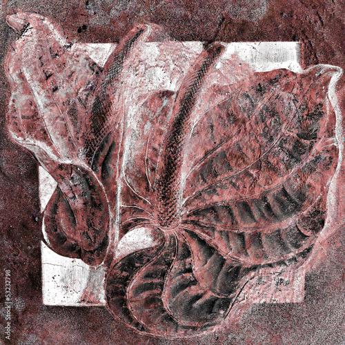 artystyczne-tlo-z-abstrakcyjnymi-paprociami-na-kamieniu