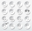 Set of faces with various emotion expressions.