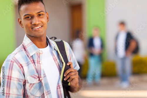 Fototapeta male indian high school student obraz