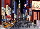 Nowy Jork - wgląd nocy Times Square - 53248725
