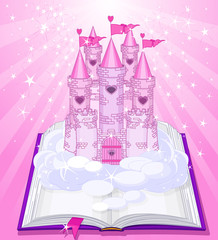 Magic castle appearing from the book