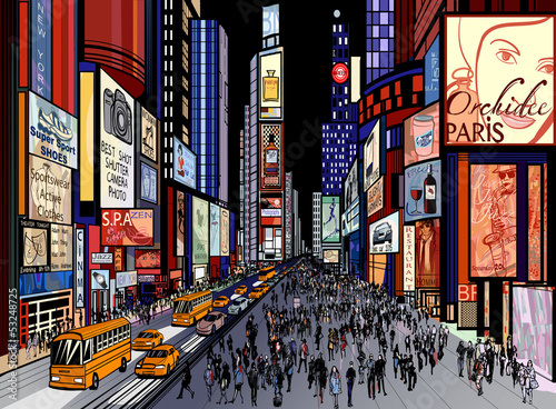 Papiers peints Art Studio New York - night view of times square