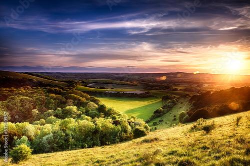 Winchester hill sunset