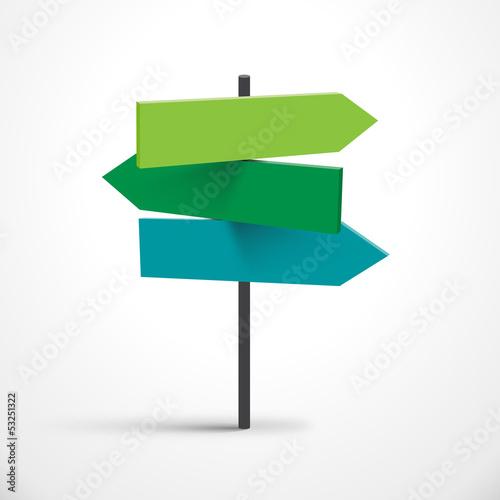 Fotografie, Obraz  Vector road signs