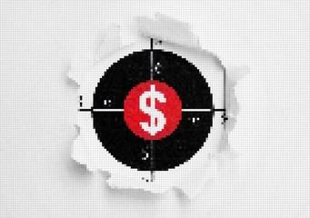 Fototapeta na wymiar Dollar target concept