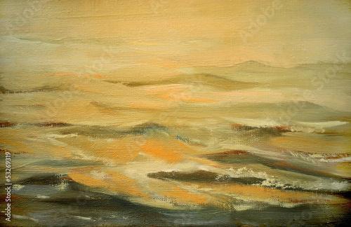 krajobraz-morze-z-chmura-ilustracja-obraz-olejny-na-canv