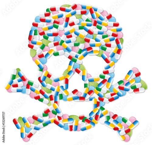 Médicaments tête de mort-1 Canvas Print