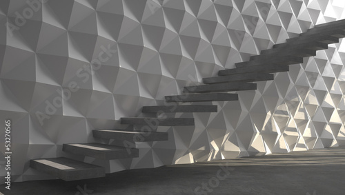 Fotobehang - Abstract stairs
