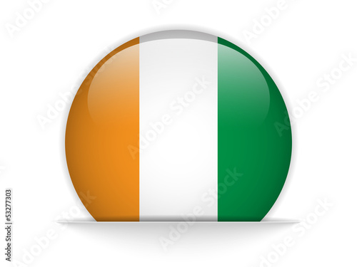 Photo  Ireland Flag Glossy Button