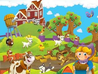 Obraz na płótnie Canvas The farm illustration for kids