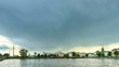 Rain passes over the city. Yekaterinburg Russia. 4K Time Lapse